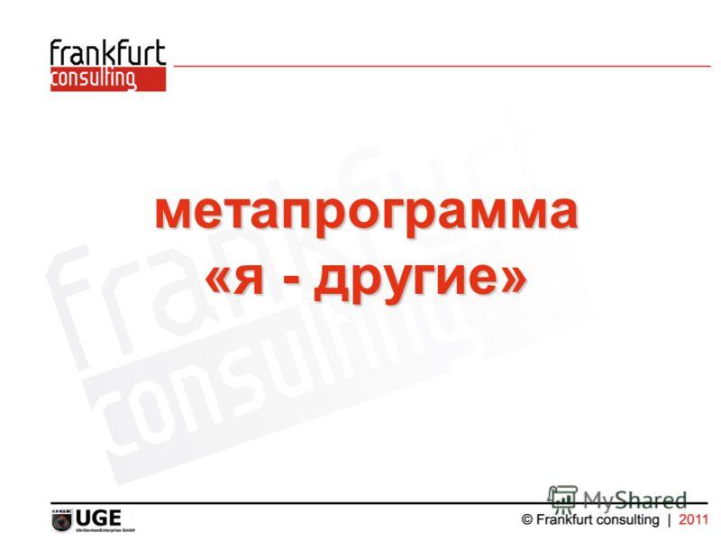 метапрограмма «я - другие»