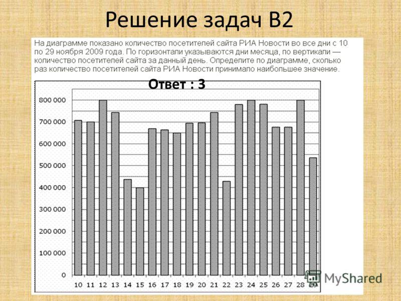 Решение задач B2 Ответ : 3