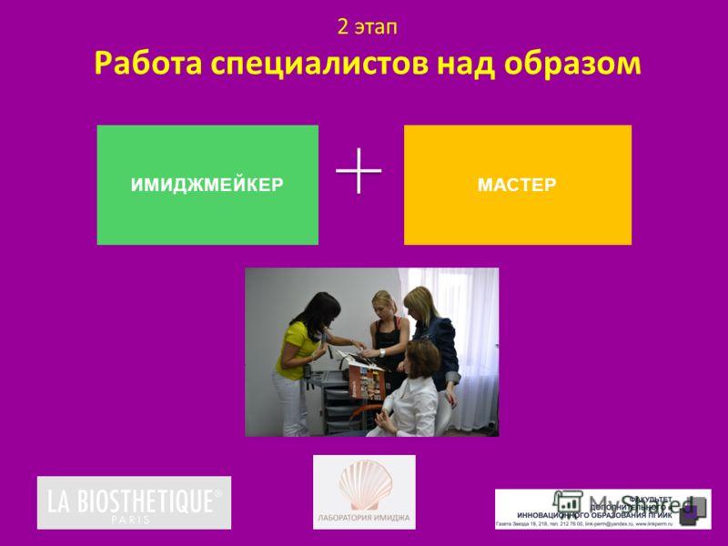 2 этап Работа специалистов над образом ИМИДЖМЕЙКЕРМАСТЕР
