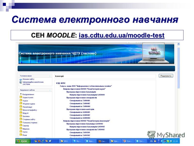 Інформаційно-аналітична система управління навчальним процесом ВНЗ ІАС контролю і оцінювання навчальних досягнень студентів: ias.cdtu.edu.ua