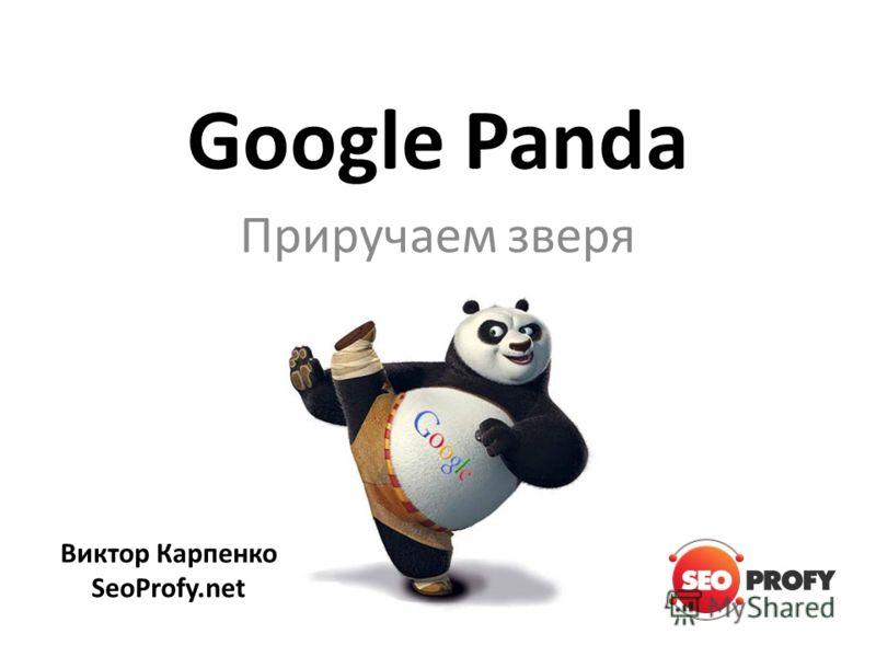 Google Panda Приручаем зверя Виктор Карпенко SeoProfy.net