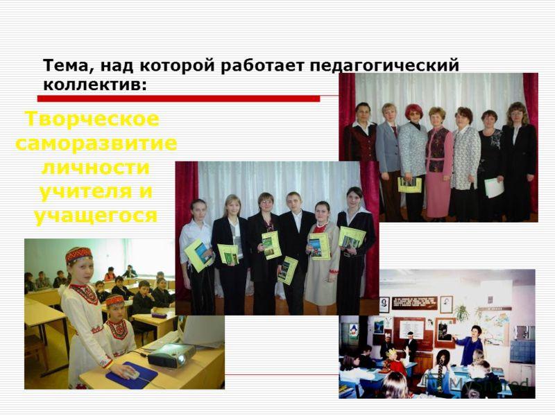 Тема, над которой работает педагогический коллектив: Творческое саморазвитие личности учителя и учащегося