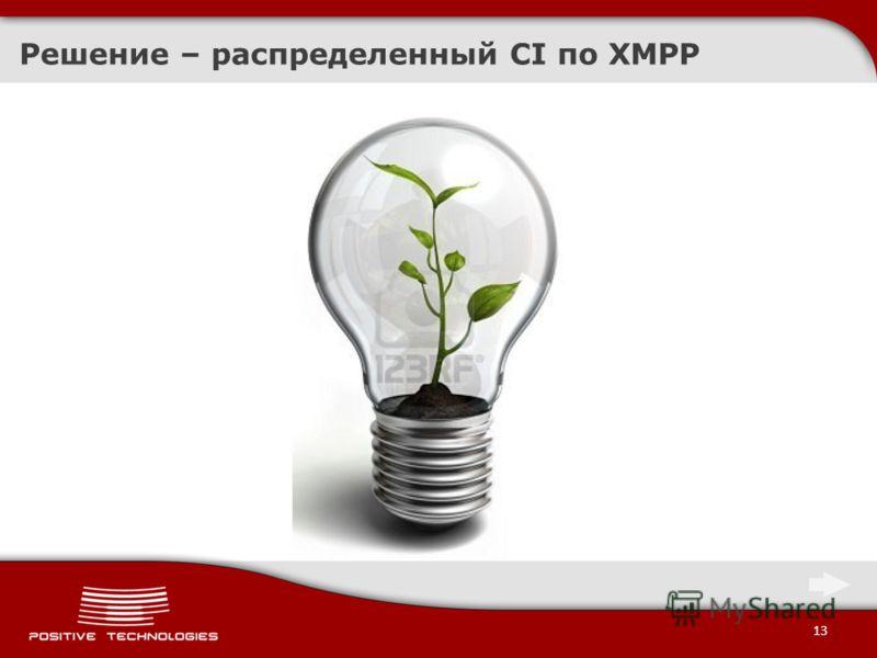 13 Решение – распределенный CI по XMPP
