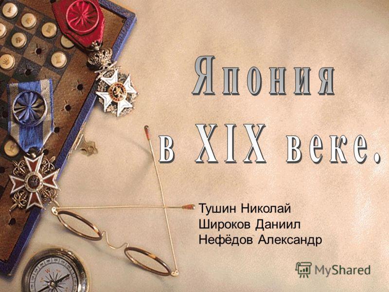 Тушин Николай Широков Даниил Нефёдов Александр