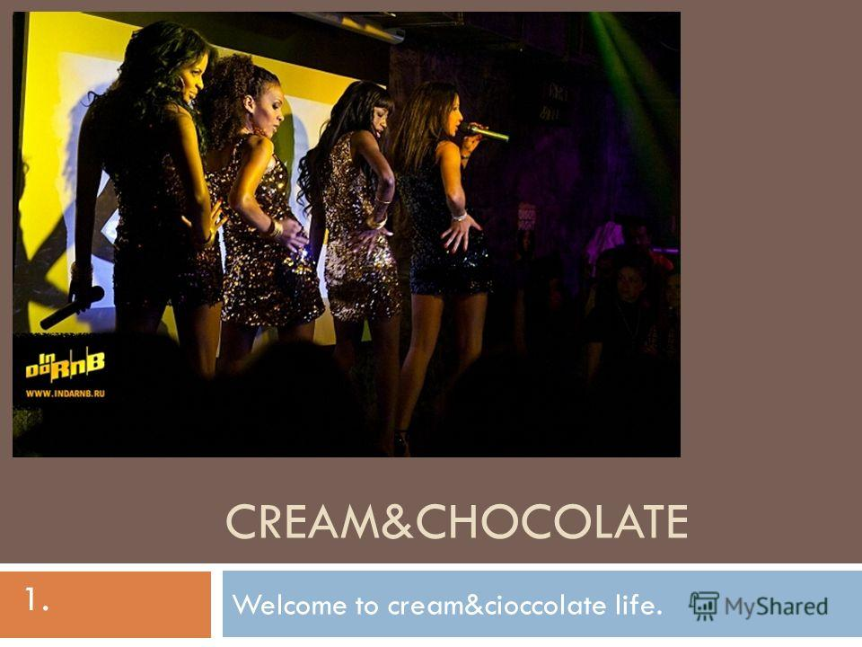 CREAM&CHOCOLATE Welcome to cream&cioccolate life. 1.