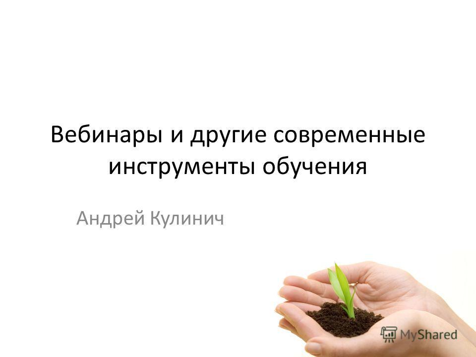 Вебинары и другие современные инструменты обучения Андрей Кулинич