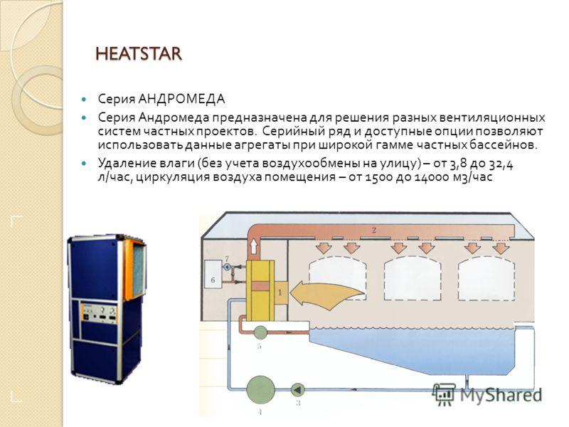 HEATSTAR Серия ОРИОН – канальные осушители для небольших частных бассейнов. В базовом варианте установки серий Орион работают только как осушители, но согласно выбору клиента можно добавить опцию обогрева воды бассейна и воздуха. Также возможен вариа