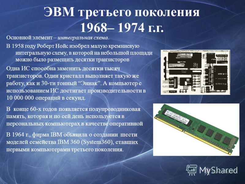 История развития эвм схема