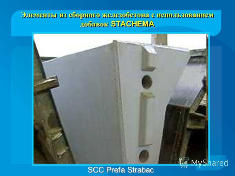 SCC Prefa Strabac Элементы из сборного железобетона с использованием добавок STACHEMA