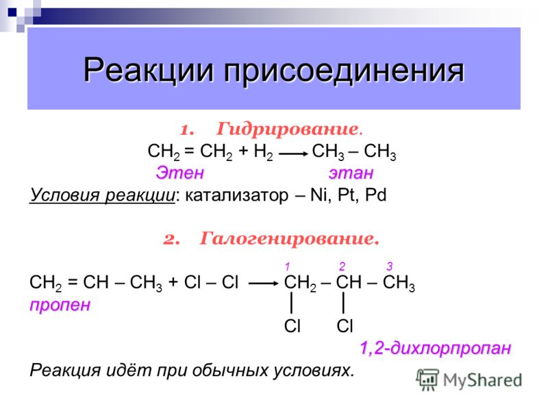 Гидрогалогенирование этилена