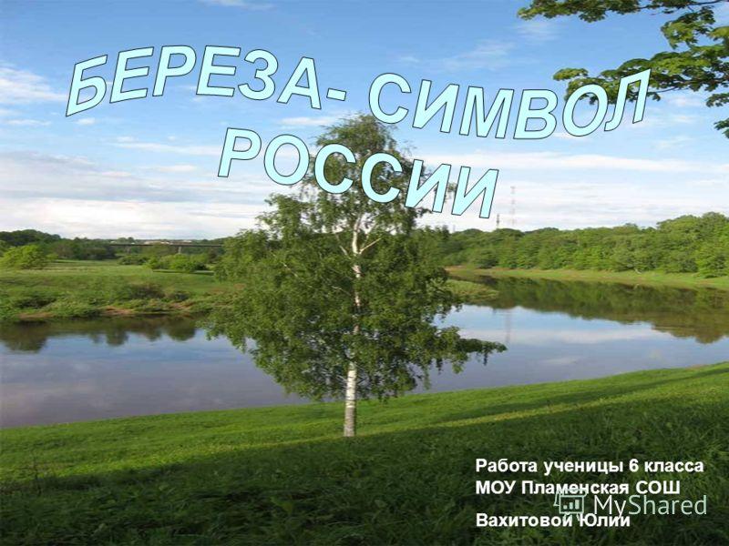 Работа ученицы 6 класса МОУ Пламенская СОШ Вахитовой Юлии