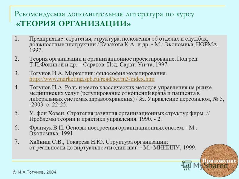 Теория Организации Мильнер 2004