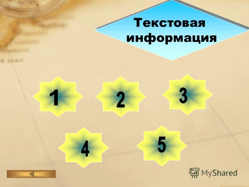 Текстовая информация Текстовая информация