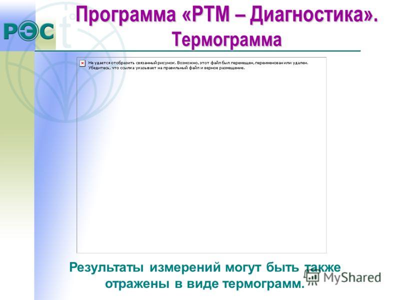 Результаты измерений могут быть также отражены в виде термограмм. Программа «РТМ – Диагностика». Термограмма