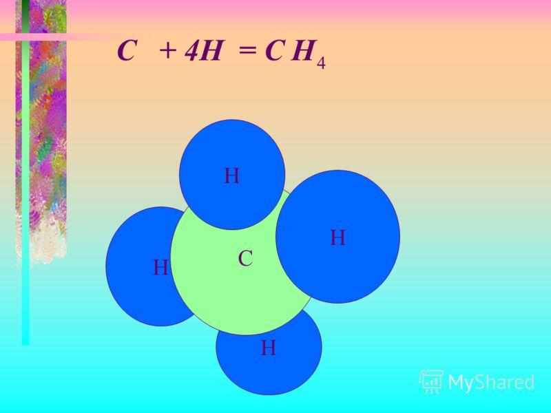 Н Н С Н Н C + 4H = C H 4