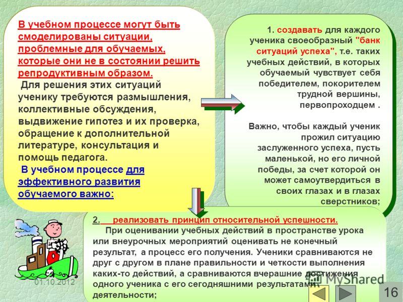 29.07.2012 1. создавать для каждого ученика своеобразный