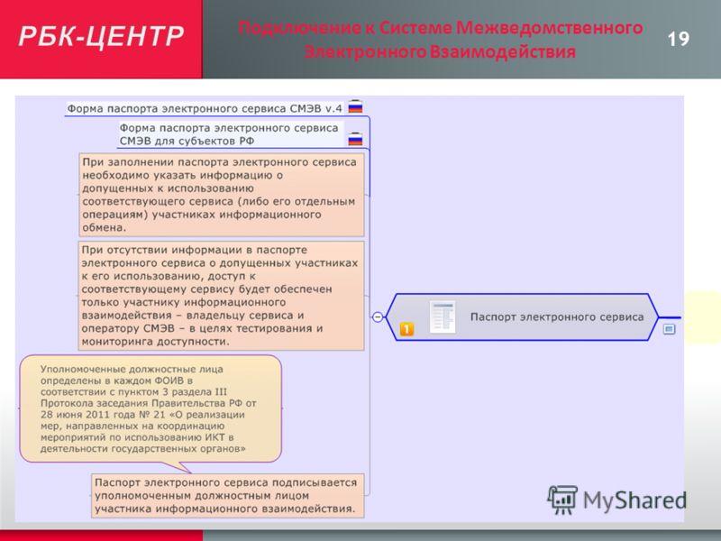 19 Подключение к Системе Межведомственного Электронного Взаимодействия