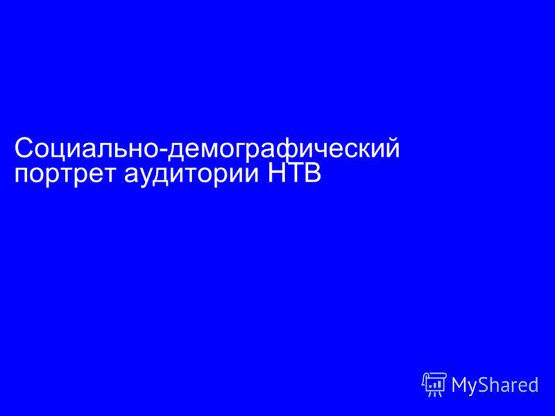 Социально-демографический портрет аудитории НТВ