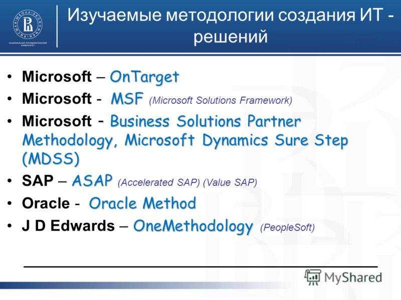 OnTargetMicrosoft – OnTarget MSFMicrosoft - MSF (Microsoft Solutions Framework) - Business Solutions Partner Methodology, Microsoft Dynamics Sure Step (MDSS)Microsoft - Business Solutions Partner Methodology, Microsoft Dynamics Sure Step (MDSS) ASAPS