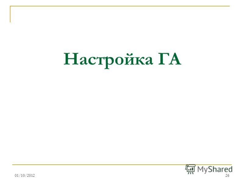 16/08/201226 Настройка ГА