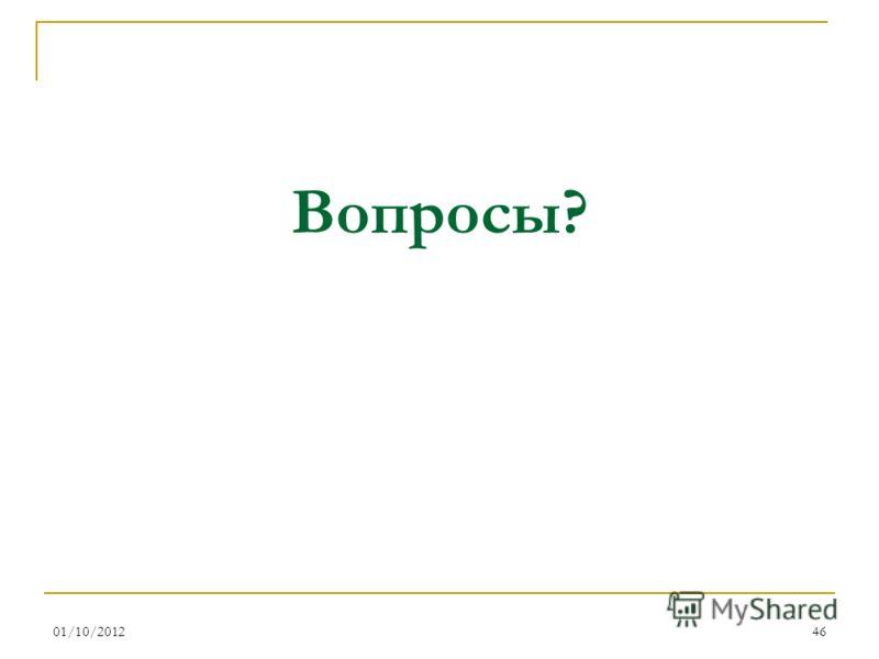 16/08/201246 Вопросы?