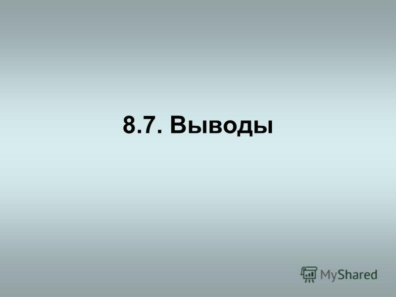 8.7. Выводы