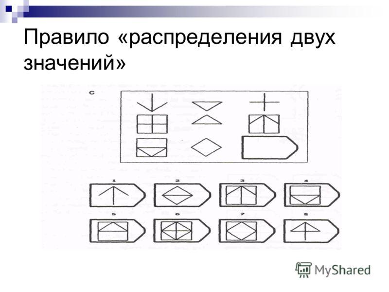 Правило «распределения двух значений»