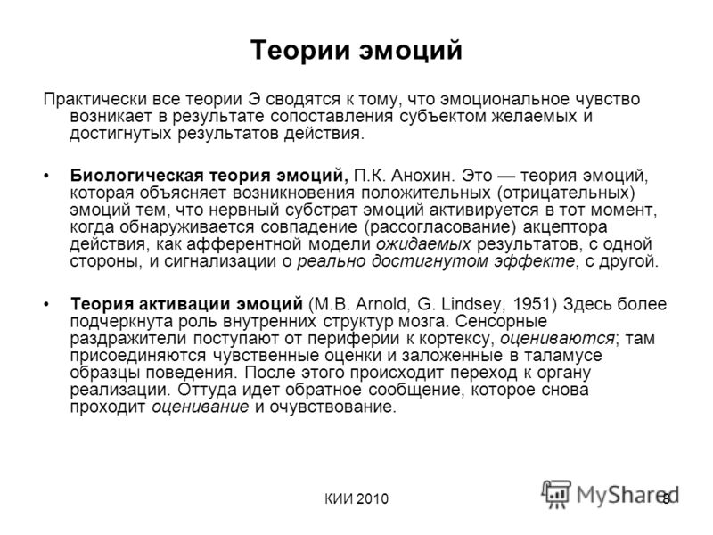 КИИ 20108 Теории эмоций