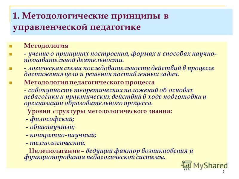 Методологические принципы в