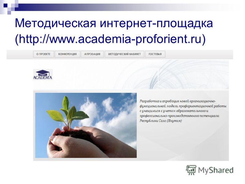 Методическая интернет-площадка (http://www.academia-proforient.ru)