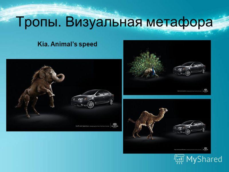 Тропы. Визуальная метафора Kia. Animals speed