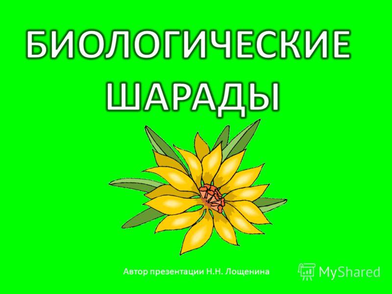 Автор презентации Н.Н. Лощенина
