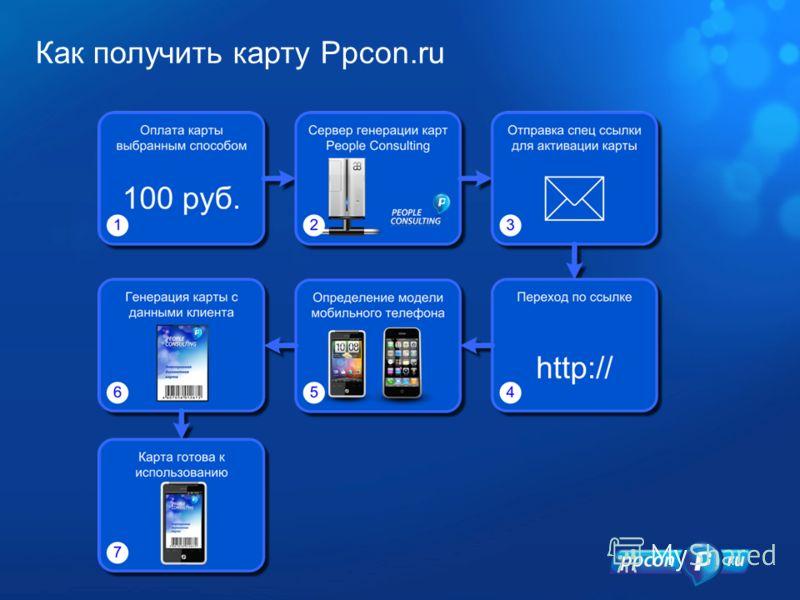 Как получить карту Ppcon.ru