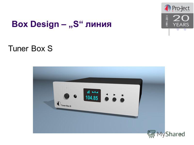 Box Design – S линия 31 Tuner Box S