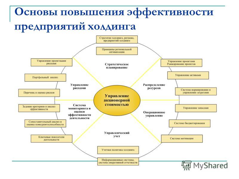 Основы повышения эффективности предприятий холдинга