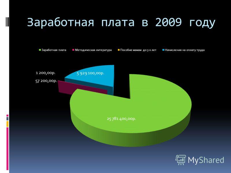 Заработная плата в 2009 году