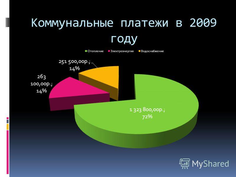 Коммунальные платежи в 2009 году