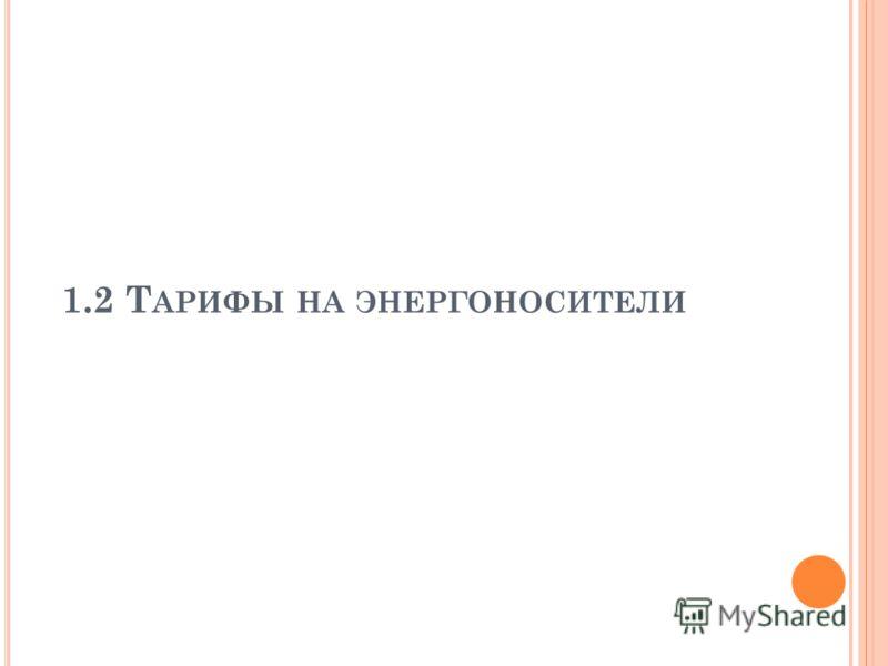 1.2 Т АРИФЫ НА ЭНЕРГОНОСИТЕЛИ