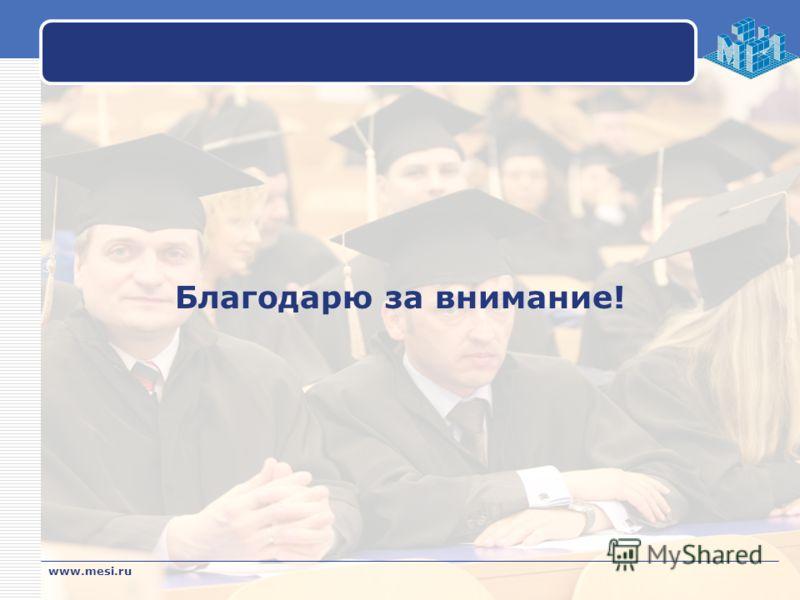 Благодарю за внимание! www.mesi.ru