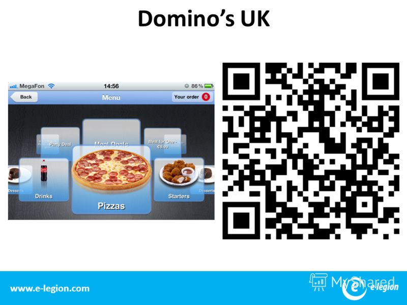 11 www.e-legion.com Dominos UK