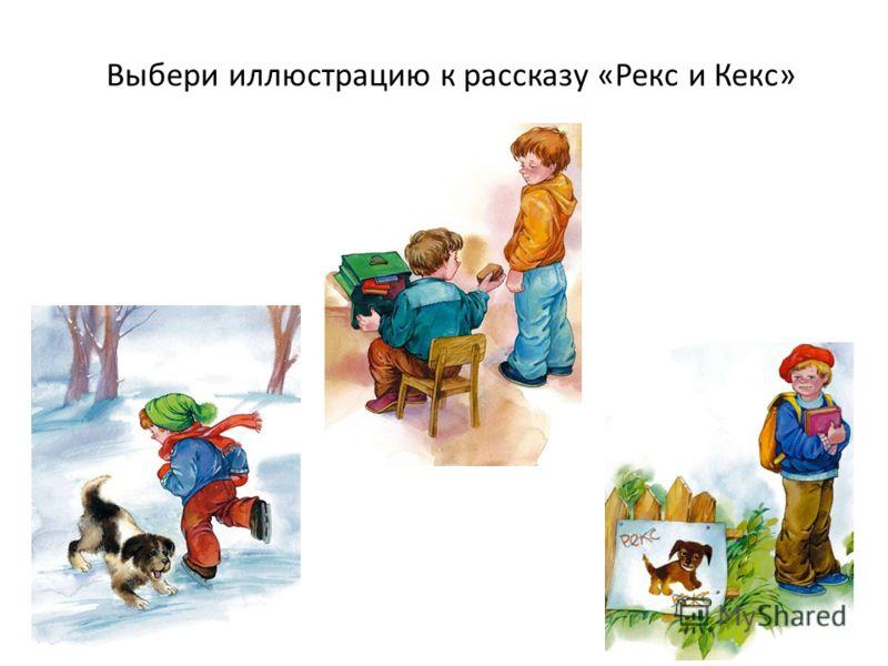 Выбери иллюстрацию к рассказу «Рекс и Кекс»