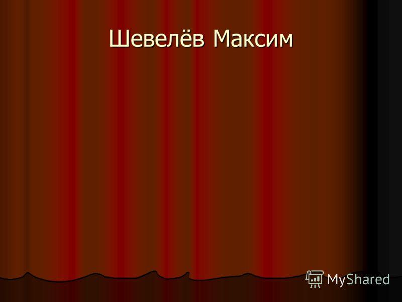 Шевелёв Максим