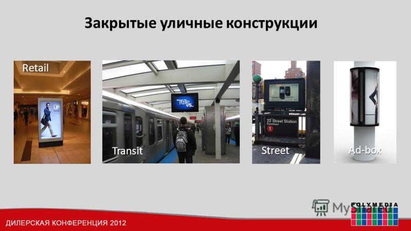 Закрытые уличные конструкции Retail Transit Street Ad-box