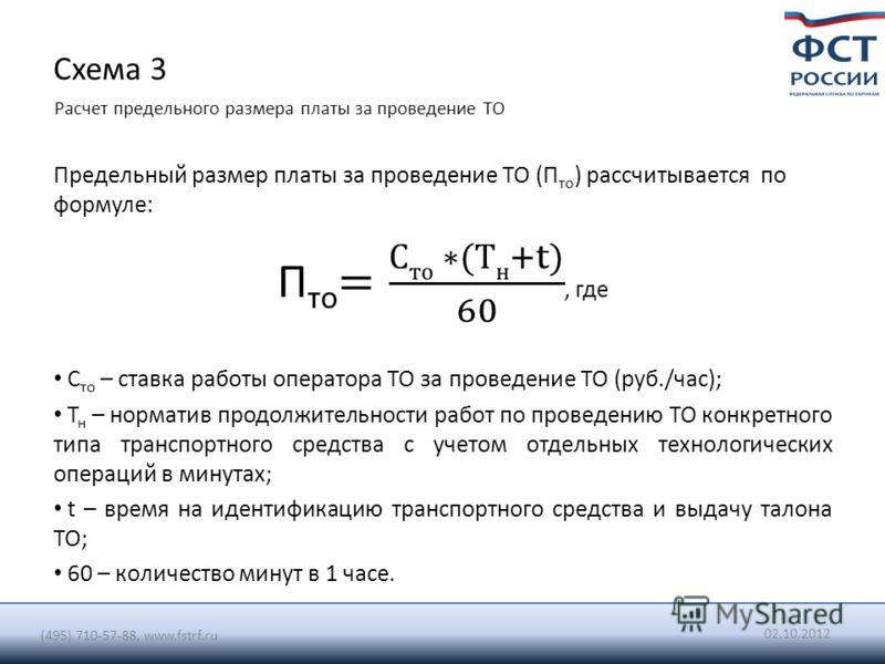 Схема 3 Расчет предельного