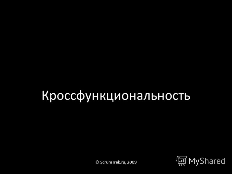 Кроссфункциональность © ScrumTrek.ru, 2009