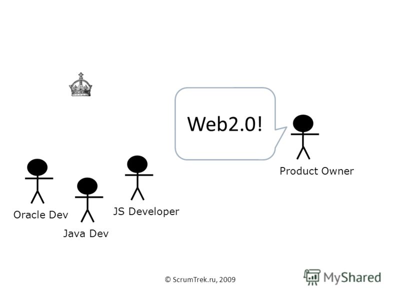 © ScrumTrek.ru, 2009 Java DevOracle DevJS DeveloperProduct Owner Web2.0!