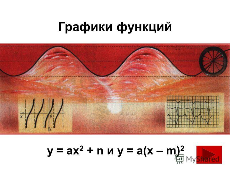 Графики функций у = ах 2 + n и у = а(х – m) 2