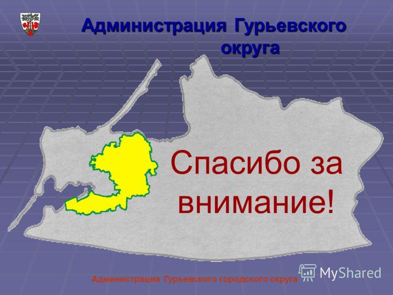 Администрация Гурьевского городского округа Администрация Гурьевского округа Спасибо за внимание!