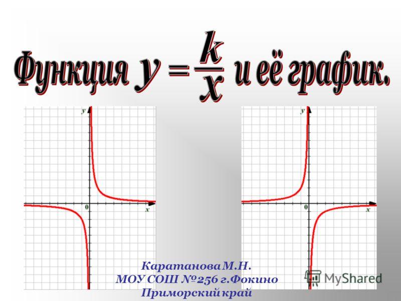 Каратанова М.Н. МОУ СОШ 256 г.Фокино Приморский край