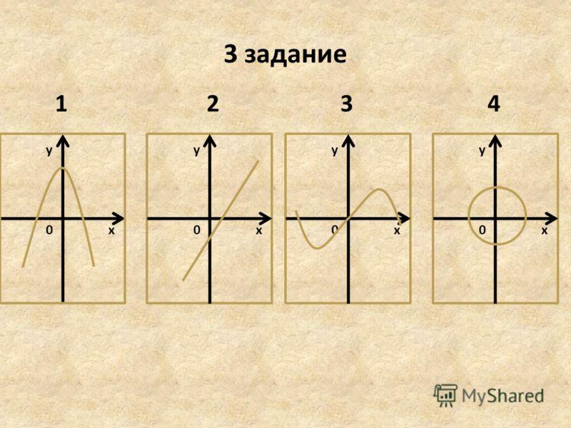3 задание х у 0х у 0х у 0х у 0 1234